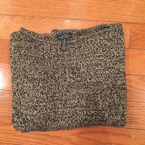 EUC Ralph Lauren tan/black sweater, size M